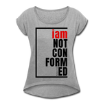 Not Conformed, i am / Women's Softstyle Tee / Black & Red - heather gray