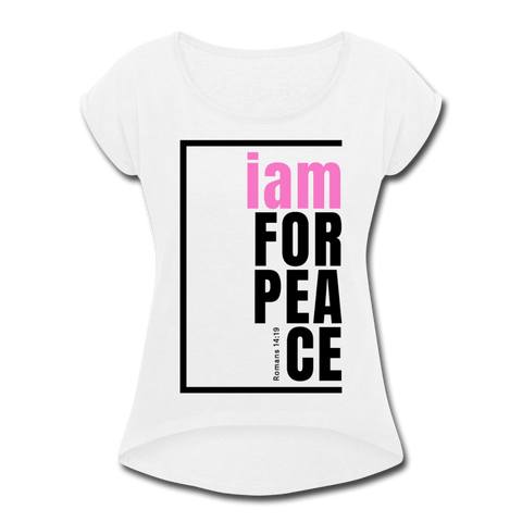 Peace, i am for / Women's Softstyle Tee / Pink & Black - white