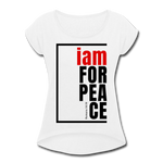 Peace, i am for / Women's Tennis Tail Tee / Red & Black - white