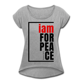 Peace, i am for / Women's Tennis Tail Tee / Red & Black - heather gray