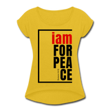 Peace, i am for / Women's Tennis Tail Tee / Red & Black - mustard yellow