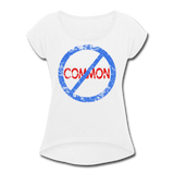 Uncommon / Women's Tennis Tail Tee / Blue & Red Distressed - white
