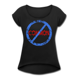Uncommon / Women's Tennis Tail Tee / Blue & Red Distressed - black