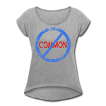 Uncommon / Women's Tennis Tail Tee / Blue & Red Distressed - heather gray