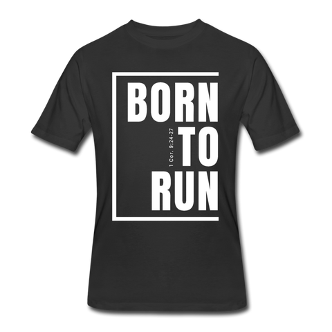 Born To Run / Men's Dri-Power T-Shirt / White - black