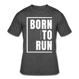 Born To Run / Men's Dri-Power T-Shirt / White - heather black