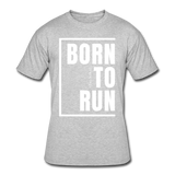 Born To Run / Men's Dri-Power T-Shirt / White - heather gray