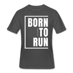 Born To Run / Men's Dri-Power T-Shirt / White - charcoal