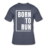 Born To Run / Men's Dri-Power T-Shirt / White - navy heather