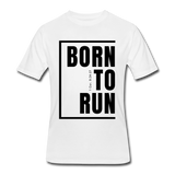 Born To Run / Men's Dri-Power T-Shirt / Black - white