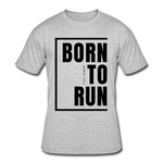 Born To Run / Men's Dri-Power T-Shirt / Black - heather gray