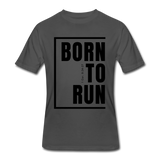 Born To Run / Men's Dri-Power T-Shirt / Black - charcoal