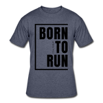 Born To Run / Men's Dri-Power T-Shirt / Black - navy heather