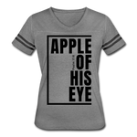 Apple of His Eye / Women's Vintage Sport / Black - heather gray/charcoal