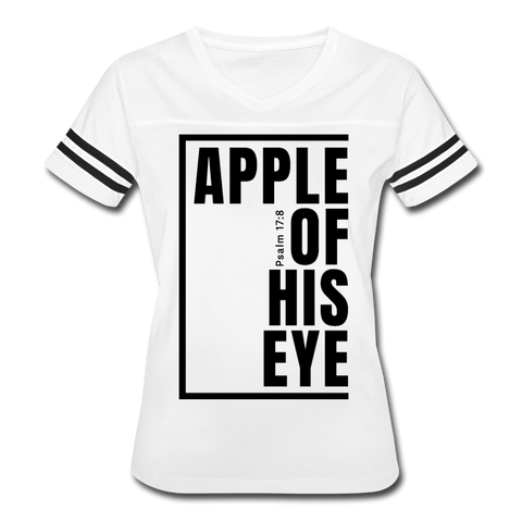 Apple of His Eye / Women's Vintage Sport / Black - white/black