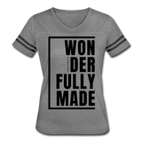 Wonderfully Made / Women's Vintage Sport / Black - heather gray/charcoal