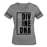 Divine DNA / Women's Vintage Sport / White - heather gray/charcoal