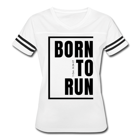 Born to Run / Women's Vintage Sport / Black - white/black