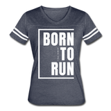 Born to Run / Women's Vintage Sport / White - vintage navy/white