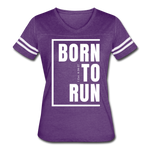 Born to Run / Women's Vintage Sport / White - vintage purple/white