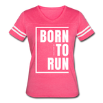 Born to Run / Women's Vintage Sport / White - vintage pink/white