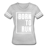 Born to Run / Women's Vintage Sport / White - heather gray/white