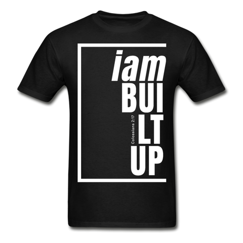 Built Up, i am / Men's Tagless T-Shirt / White - black
