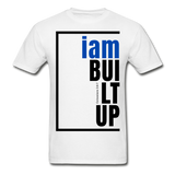 Built Up, i am / Men's Tagless T-Shirt / Blue & Black - white