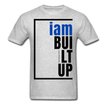 Built Up, i am / Men's Tagless T-Shirt / Blue & Black - heather gray