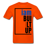 Built Up, i am / Men's Tagless T-Shirt / Blue & Black - orange