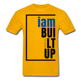 Built Up, i am / Men's Tagless T-Shirt / Blue & Black - gold