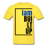 Built Up, i am / Men's Tagless T-Shirt / Blue & Black - yellow