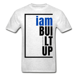 Built Up, i am / Men's Tagless T-Shirt / Blue & Black - light heather gray