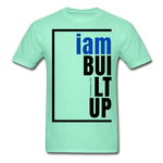 Built Up, i am / Men's Tagless T-Shirt / Blue & Black - deep mint