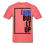 Built Up, i am / Men's Tagless T-Shirt / Blue & Black - coral