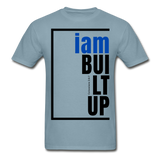 Built Up, i am / Men's Tagless T-Shirt / Blue & Black - stonewash blue