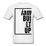 Built Up, i am / Men's Tagless T-Shirt / Black - white