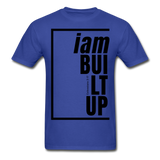Built Up, i am / Men's Tagless T-Shirt / Black - royal blue