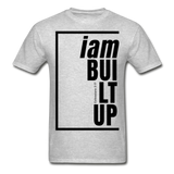 Built Up, i am / Men's Tagless T-Shirt / Black - heather gray