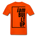 Built Up, i am / Men's Tagless T-Shirt / Black - orange