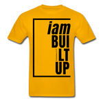 Built Up, i am / Men's Tagless T-Shirt / Black - gold