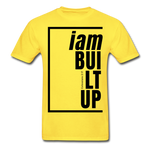 Built Up, i am / Men's Tagless T-Shirt / Black - yellow