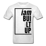 Built Up, i am / Men's Tagless T-Shirt / Black - light heather gray