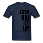 Built Up, i am / Men's Tagless T-Shirt / Black - navy