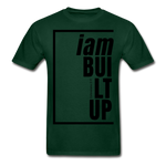 Built Up, i am / Men's Tagless T-Shirt / Black - forest green