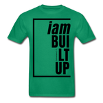 Built Up, i am / Men's Tagless T-Shirt / Black - kelly green