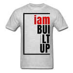 Built Up, i am / Men's Tagless T-Shirt / Red & Black - heather gray