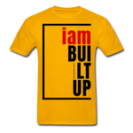 Built Up, i am / Men's Tagless T-Shirt / Red & Black - gold