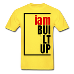Built Up, i am / Men's Tagless T-Shirt / Red & Black - yellow