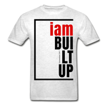 Built Up, i am / Men's Tagless T-Shirt / Red & Black - light heather gray